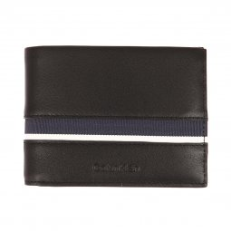 Portefeuille italien 2 volets Calvin Klein Jeans Stripe en cuir de mouton  noir à liseré en ... 92afcddb18a
