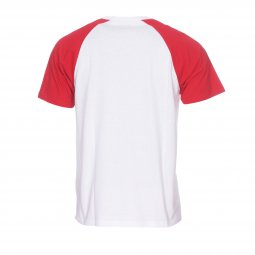 Tee-shirt col rond Carhartt WIP Batter en coton blanc à manches rouges