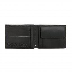 fda1e4a695 ... Coffret Calvin Klein Jeans portefeuille italien 2 volets et porte-clefs  en cuir de mouton ...