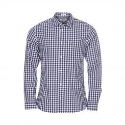 838d07f00048b Chemise ajustée Tommy Jeans Gingham en coton à carreaux bleus et blancs ...