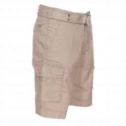 Short Teddy Smith Sytro en coton beige à fines rayures marron