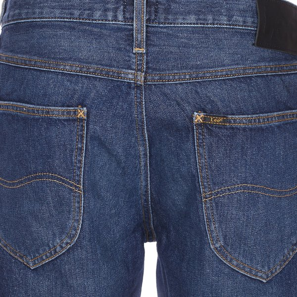 Short en jean Lee en coton bleu denim brut
