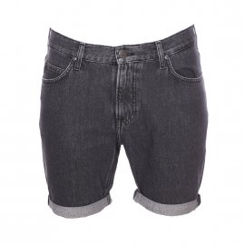 Short en jean Lee en coton gris anthracite