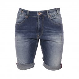 Short en jean Petrol Industries Blizzard en coton stretch bleu délavé