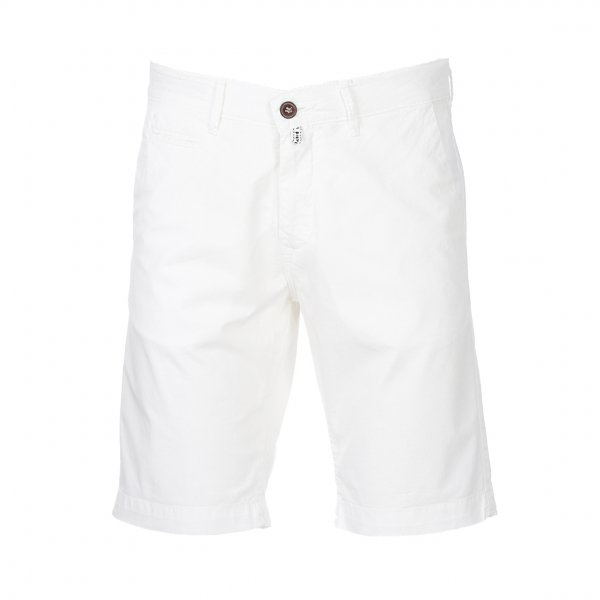 Short chino Pierre Cardin Lyon en coton stretch blanc
