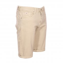 Short Kaporal en coton stretch beige