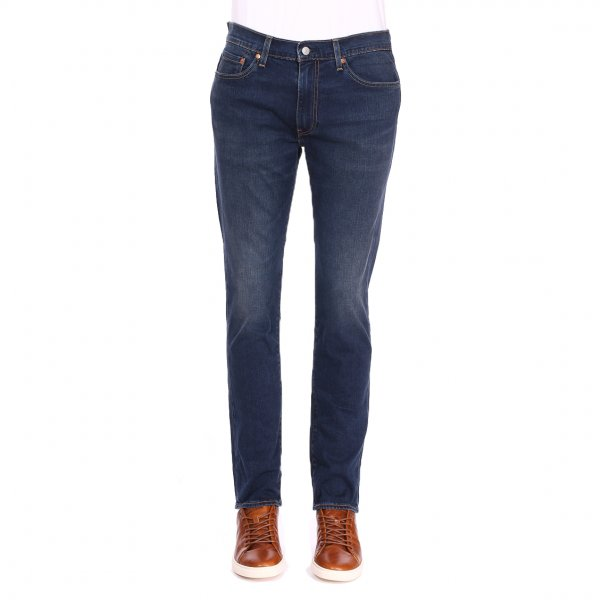 Jean Levi's 511 Slim Fit Adriatic Adapt  en coton stretch bleu brut légèrement délavé