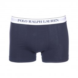 Lot de 3 boxers Polo Ralph Lauren en coton stretch bleu marine, rouge et gris chiné
