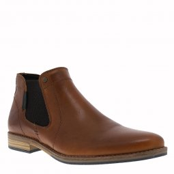 Bottines Bullboxer en cuir camel