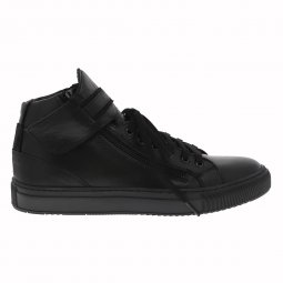 Baskets Redskins Perpet en cuir noir