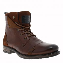 Bottines Redskins Yedes en cuir véritable marron