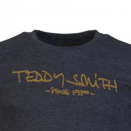 Tee-shirt manches longues Teddy Smith Ticlass 3 en coton mélangé gris anthracite chiné et marron