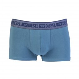 Lot de 3 boxers Diesel Shawn en coton stretch bleu canard, noir et bordeaux