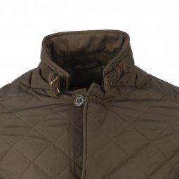 Veste Barbour Quilted Lutz matelassé marron