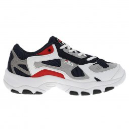 Baskets Fila Select Low bleu marine, grises, blanches et rouges