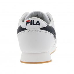 Baskets Fila Orbit Low blanches à détails bleu marine