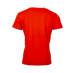 Tee-shirt col rond Tommy Jeans Badge en coton rouge