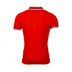 Polo Petrol Industries en coton stretch rouge