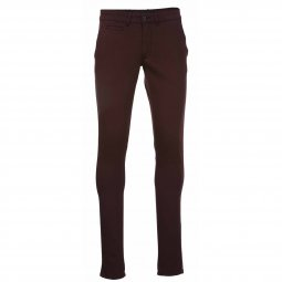 Pantalon chino Delahaye en coton stretch bordeaux