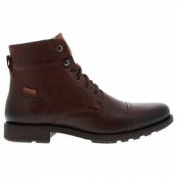 Bottines Levi's Reddinger en cuir marron et languette beige