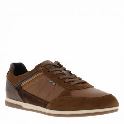 Baskets Geox Renan en cuir marron