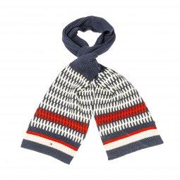 Tommy Hilfiger Heritage Corporate Knit Echarpe, Bleu (Tommy