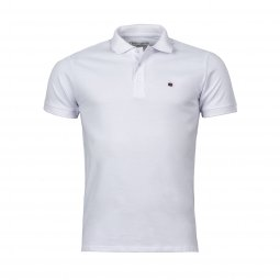 Polo Teddy Smith Pilote en coton blanc