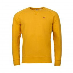 Sweat col rond Levi's Original Icon en coton jaune moutarde