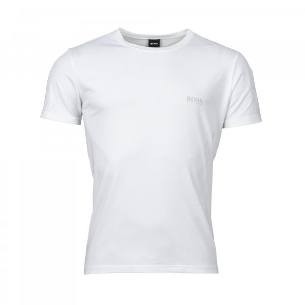 Lot de 2 tee-shirts col rond Hugo Boss en coton stretch blanc