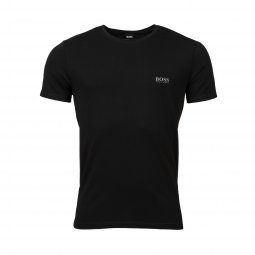 Lot de 2 tee-shirts col rond Hugo Boss en coton stretch noir