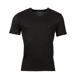 Lot de 3 tee-shirts col V Hugo Boss en coton noir