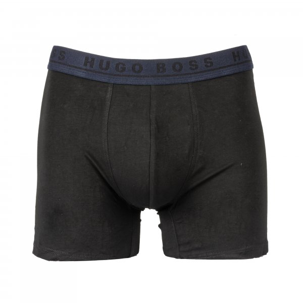 Lot de 3 boxers longs Hugo Boss en coton stretch noirs