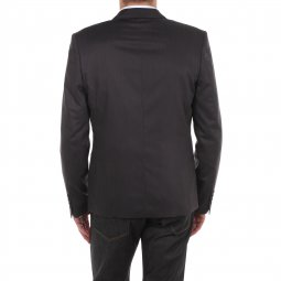 Blazer cintré Selected Gris, bordures noires