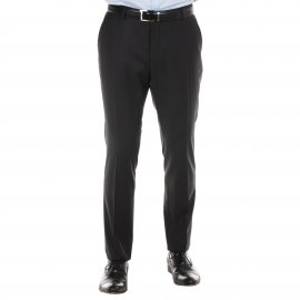 Pantalon de costume cintré Selected en laine Noire