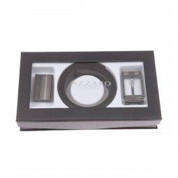 Coffret cadeau   ceinture Azzaro ajustable, noir réversible marron, à  boucle pleine et classique ... 8c29cc4900f