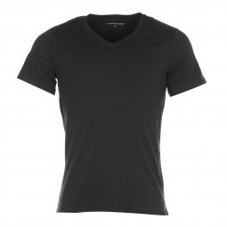 Lot de 3 Tee-shirts Col V Tommy Hilfiger en coton stretch noir