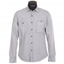 Chemise homme Selected Gris clair, effet jean