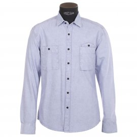 Chemise homme Selected Bleu clair, effet jean