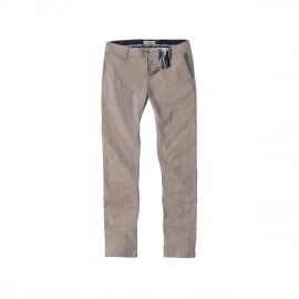 GORDON - Pantalon chino slim fit lin chiné