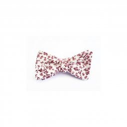 Noeud papillon fait main en coton Liberty rose