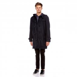 Manteau long duffle coat à capuche