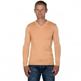Pull Homme Col V Abricot Massimo