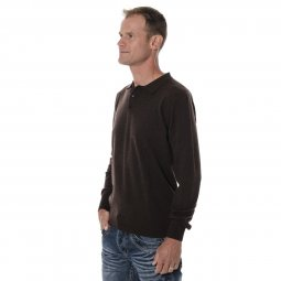 Pull Homme Laine de Yak Col Polo
