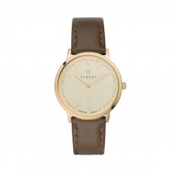 Montre Elite Cuir - Champagne Or Olive