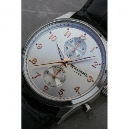 Montre Cuir Vintage Style Small Chronograph
