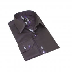 Chemise Coton Homme Grise Andy
