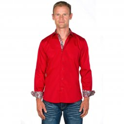 Chemise Coton Homme Rouge Tom