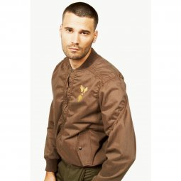 Explorador Bordado Manos - Veste bomber marron clair en coton