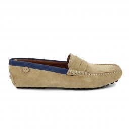 Mocassin Palm suede