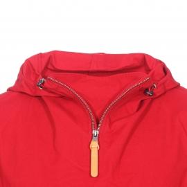 Vareuse déperlante à capuche Armor Lux en coton rouge